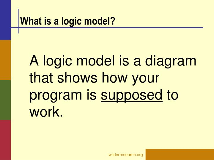 What is a logic model