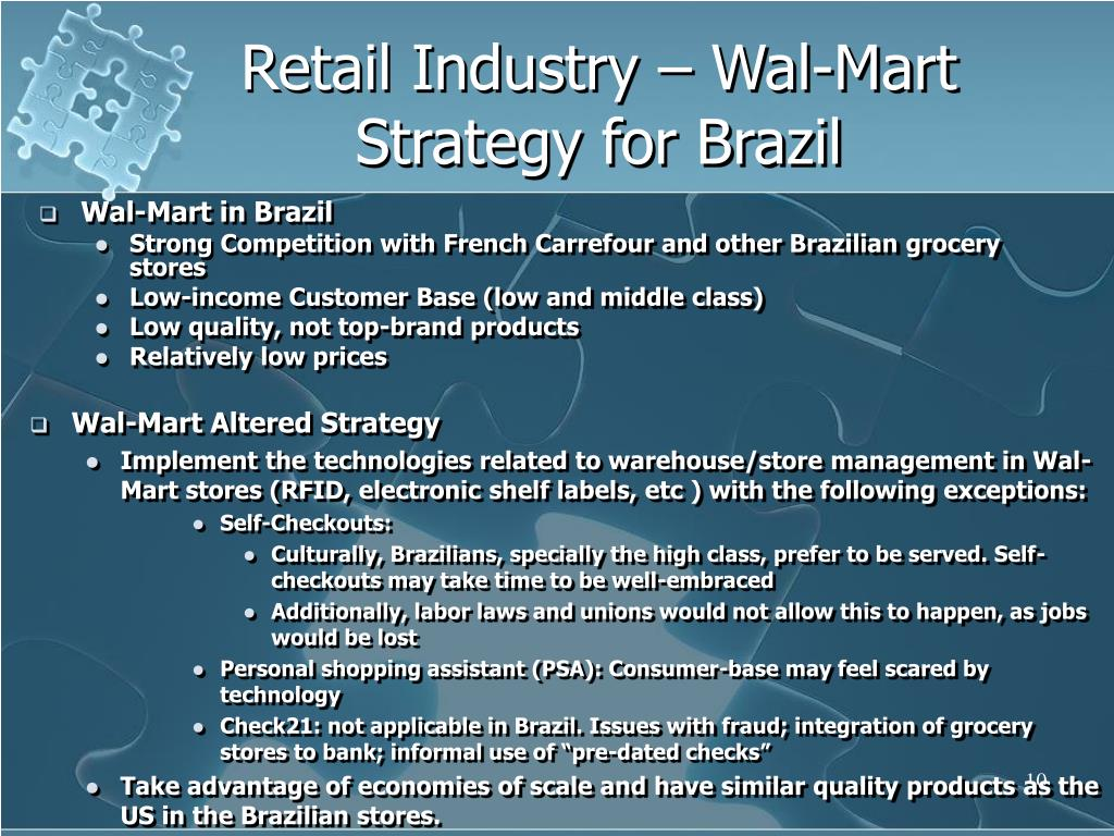 Retail Industry – Wal-Mart