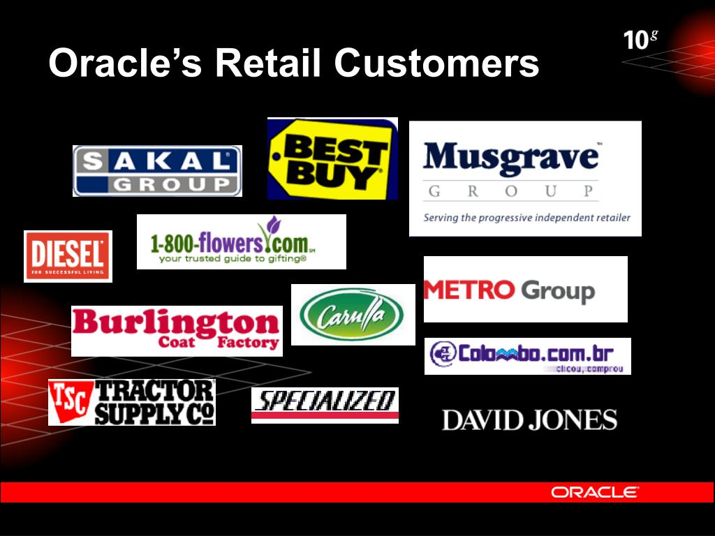 Oracle's Retail Customers