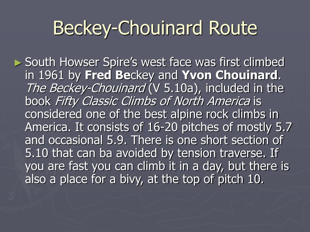Beckey-Chouinard Route