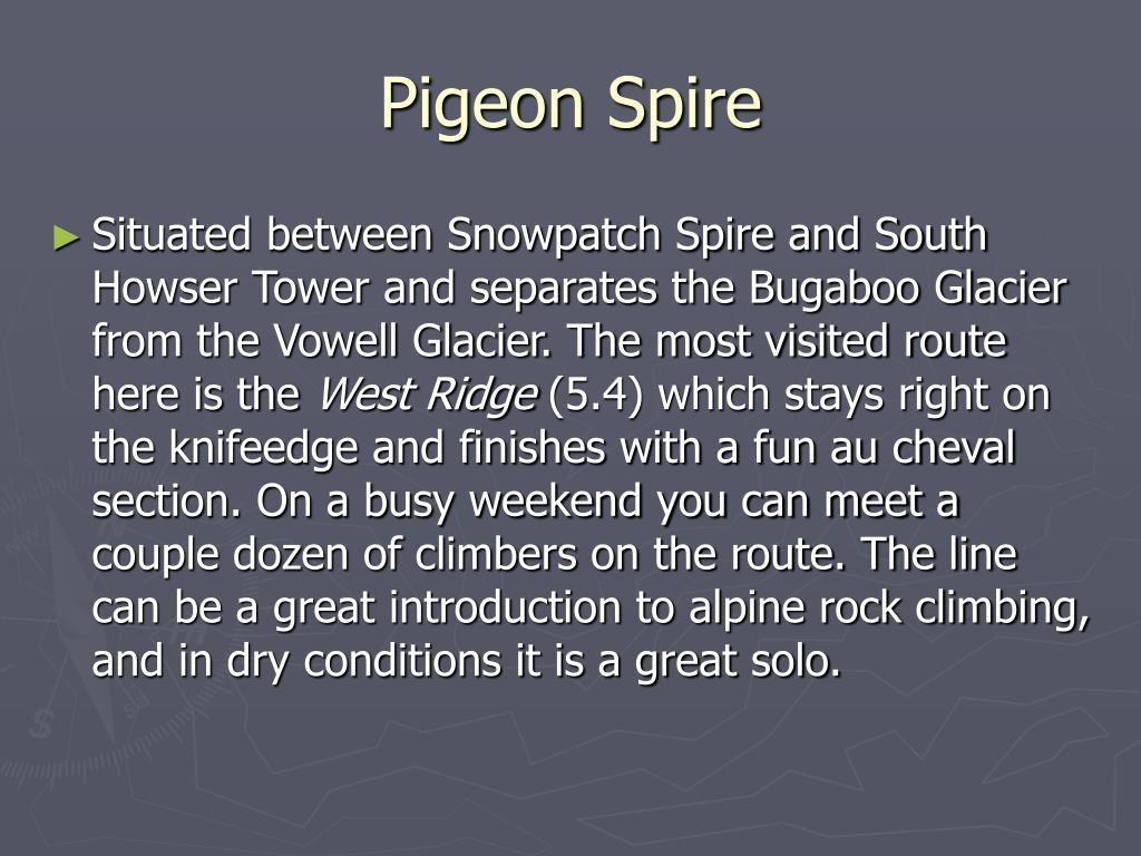 Pigeon Spire