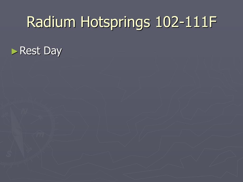 Radium Hotsprings 102-111F