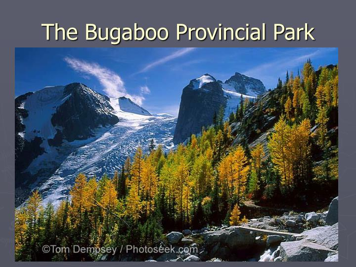 The bugaboo provincial park