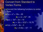convert from standard to vertex forms16