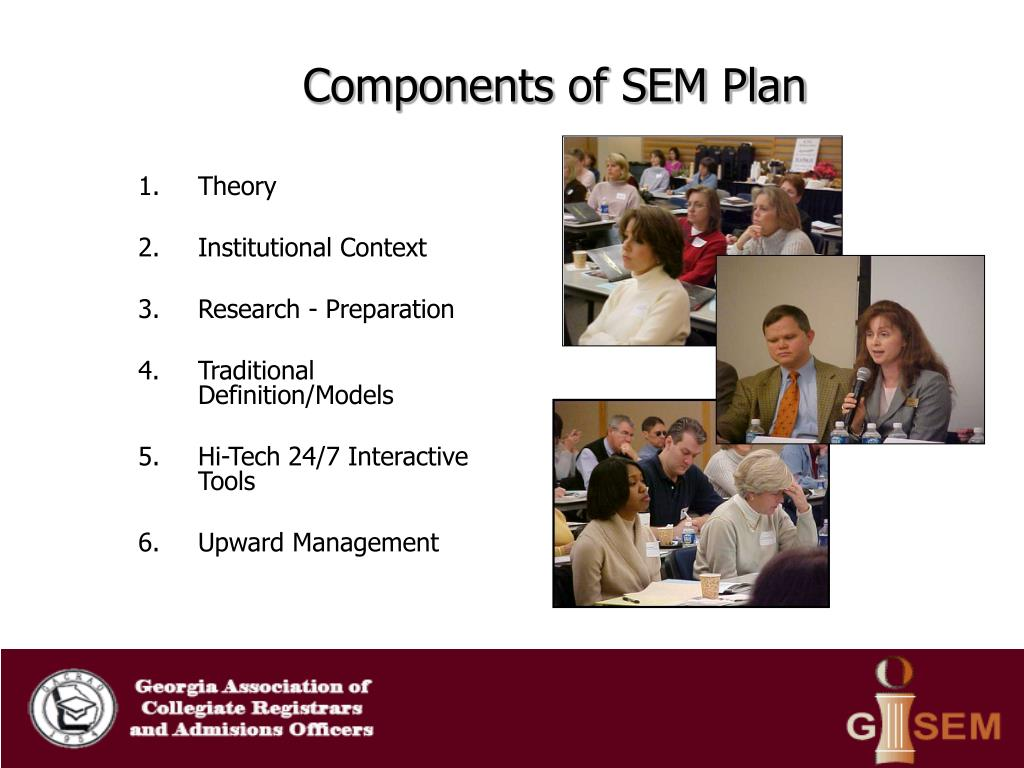Components of SEM Plan
