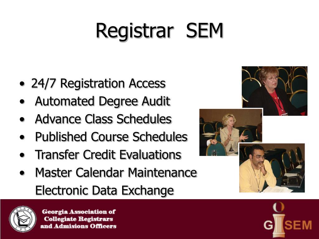 Registrar  SEM