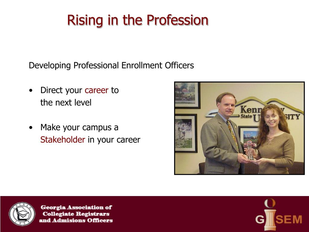 Rising in the Profession