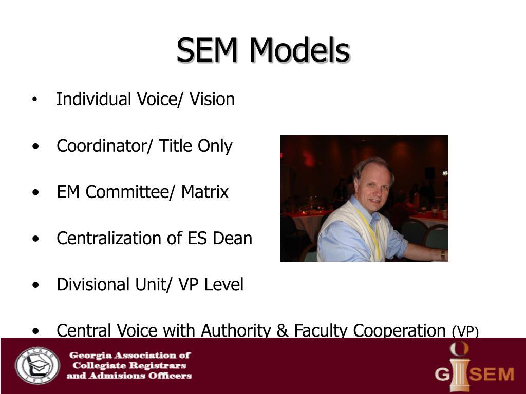 SEM Models