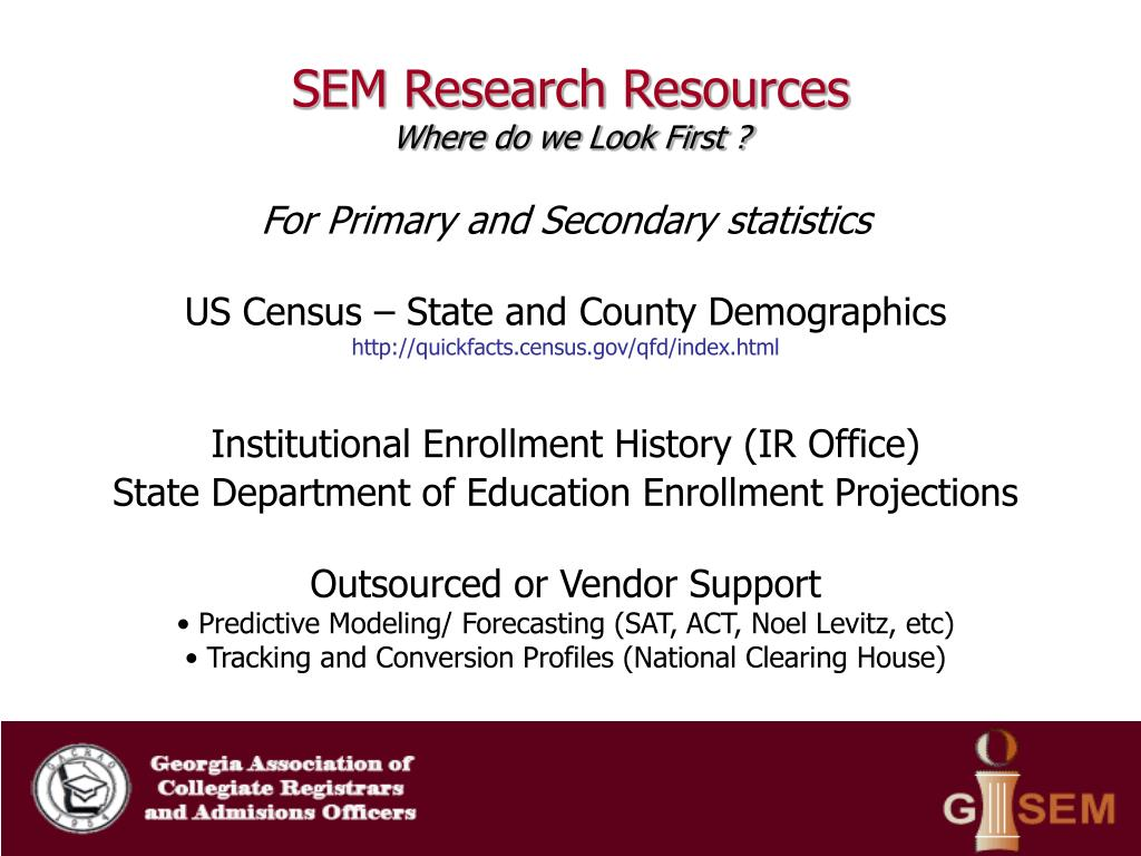 SEM Research Resources