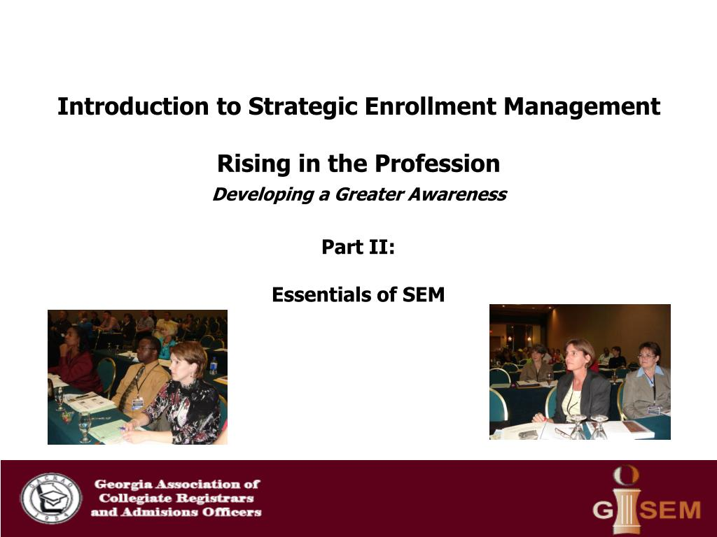 Introduction to Strategic Enrollment Management