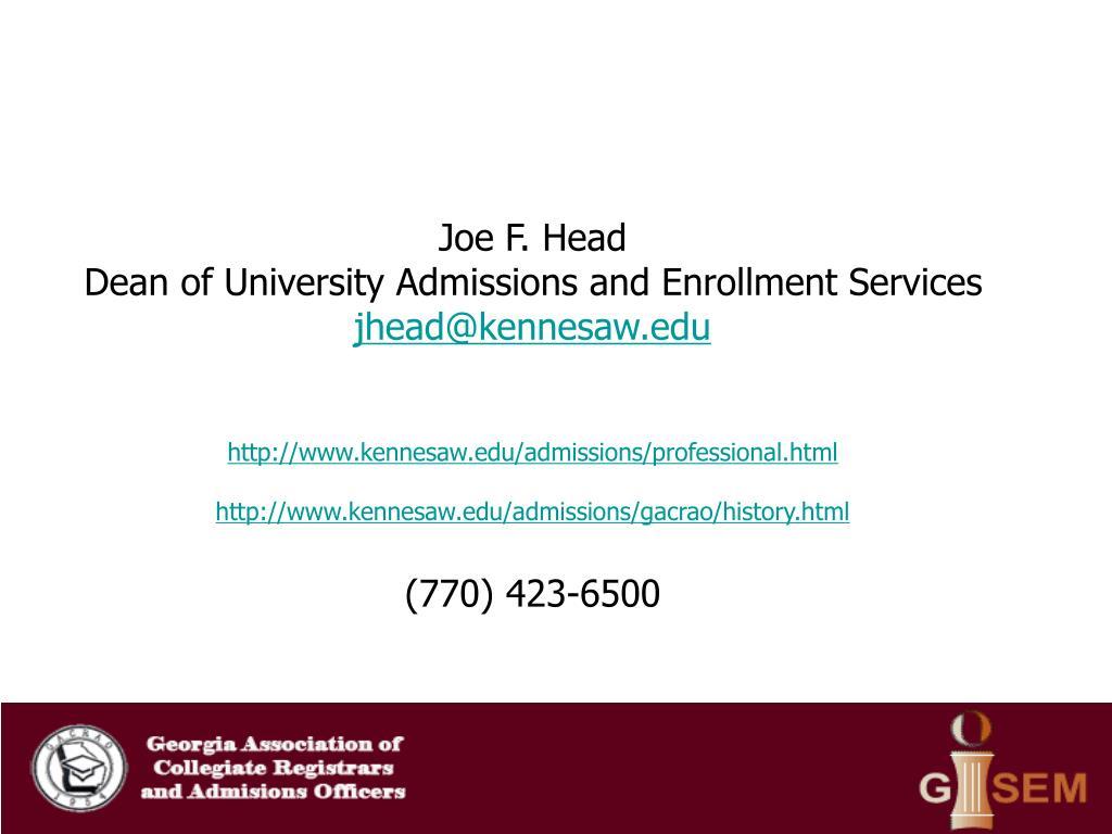 Joe F. Head