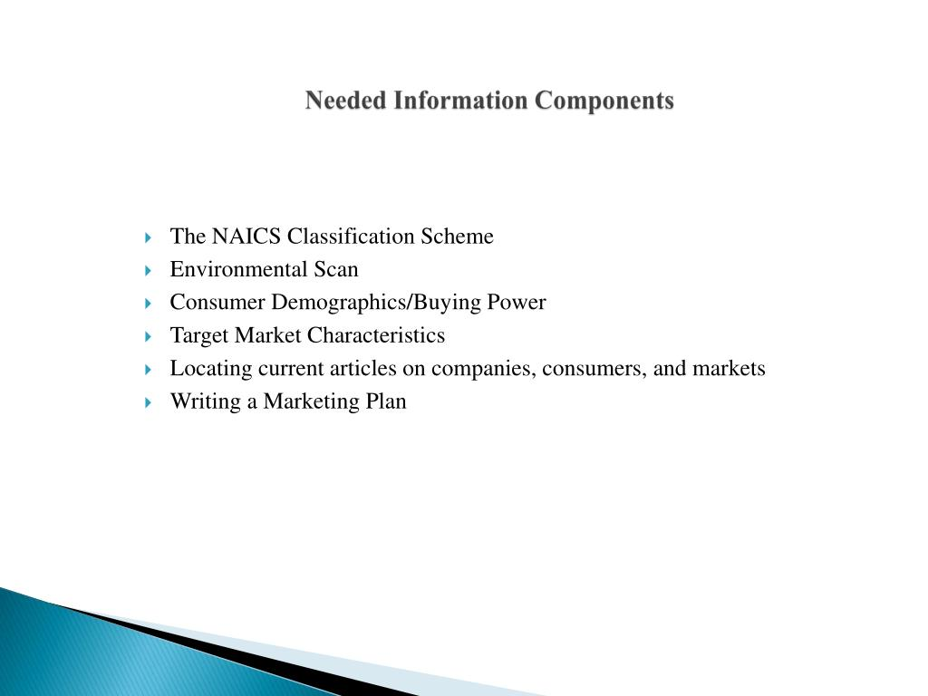 Needed Information Components