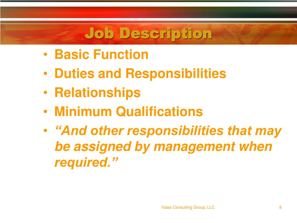 Job Description
