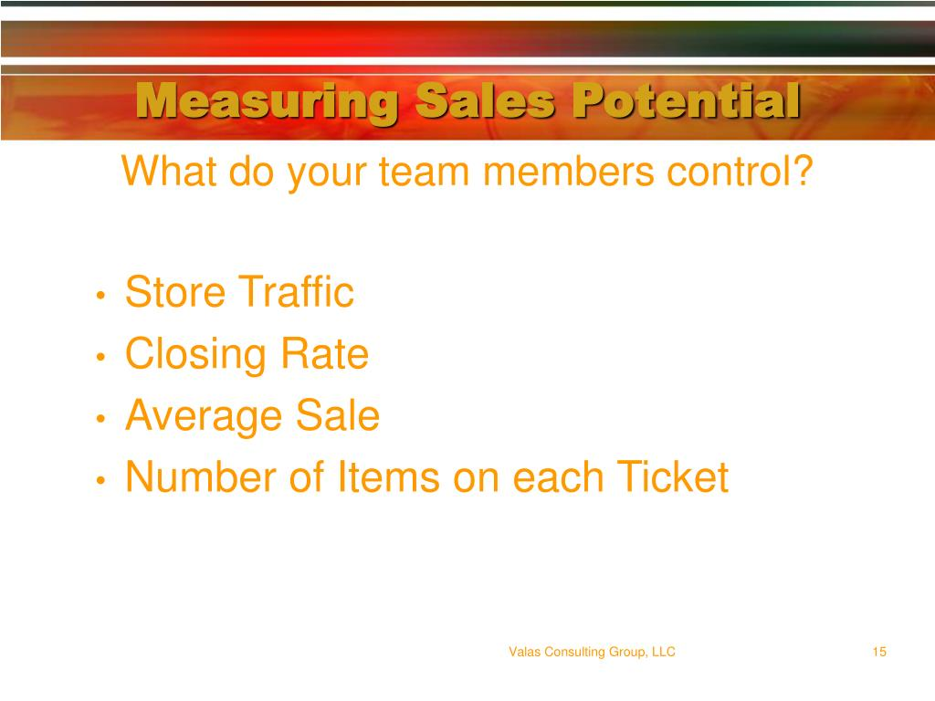 Measuring Sales Potential