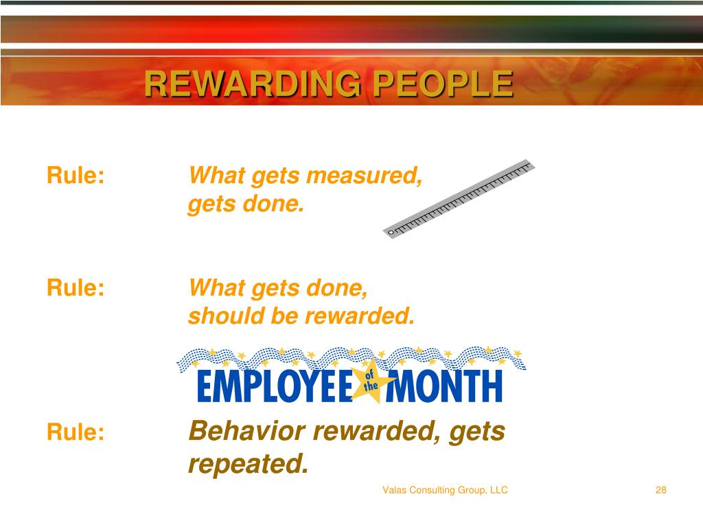 REWARDING PEOPLE