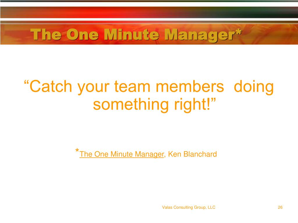 The One Minute Manager*