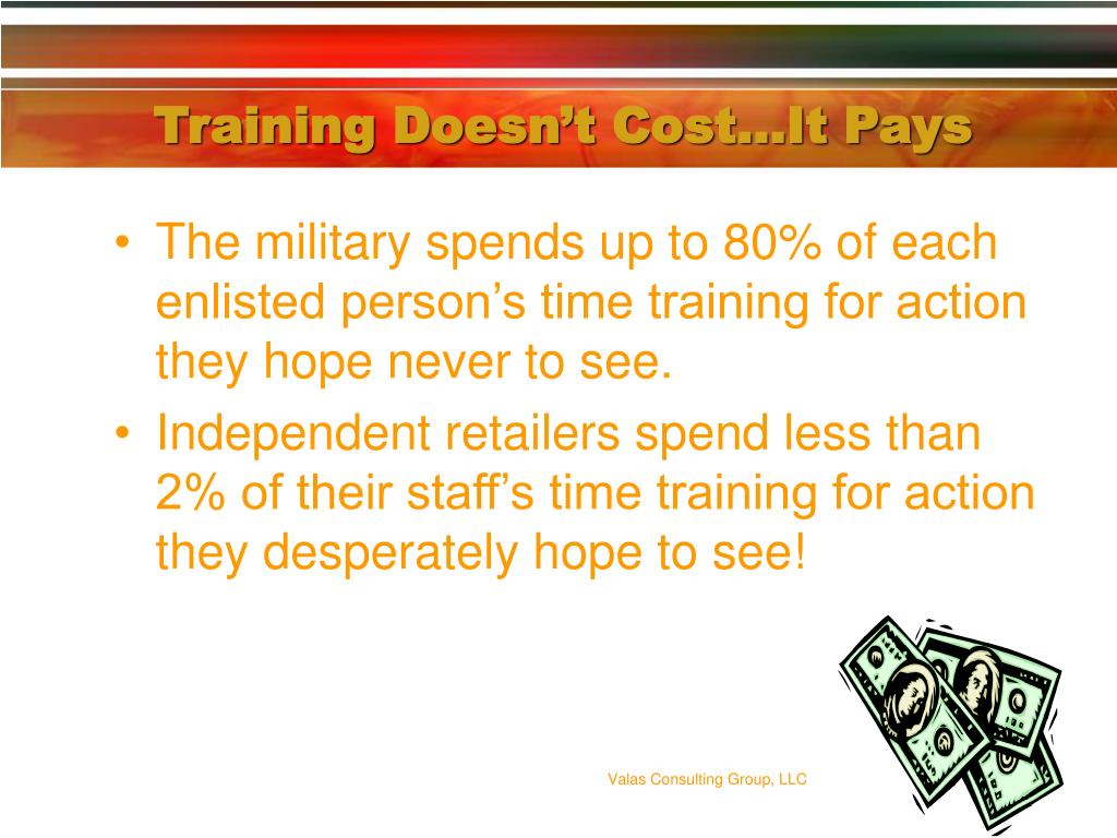 Training Doesn't Cost…It Pays