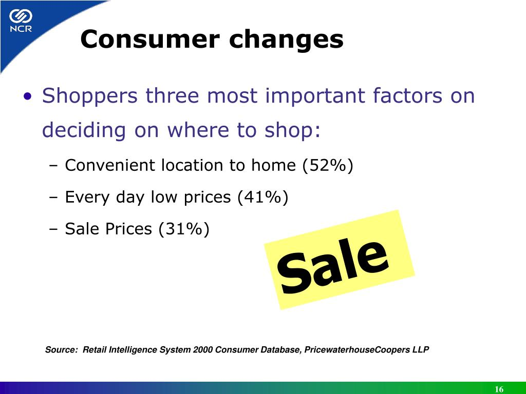 Consumer changes