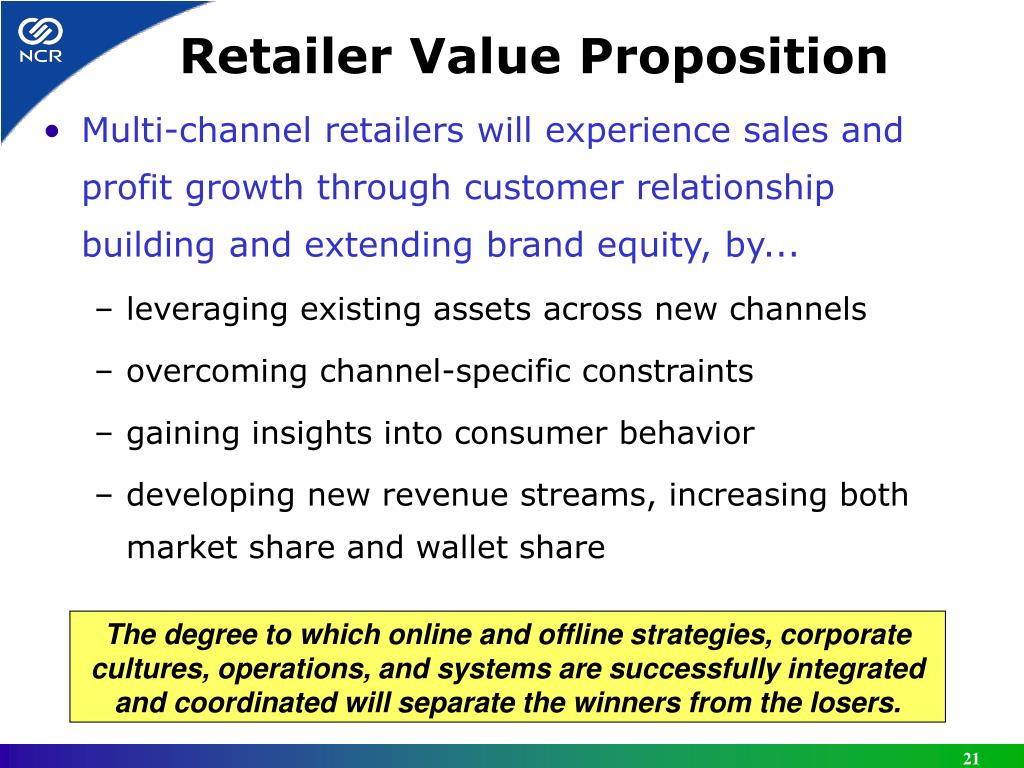 Retailer Value Proposition