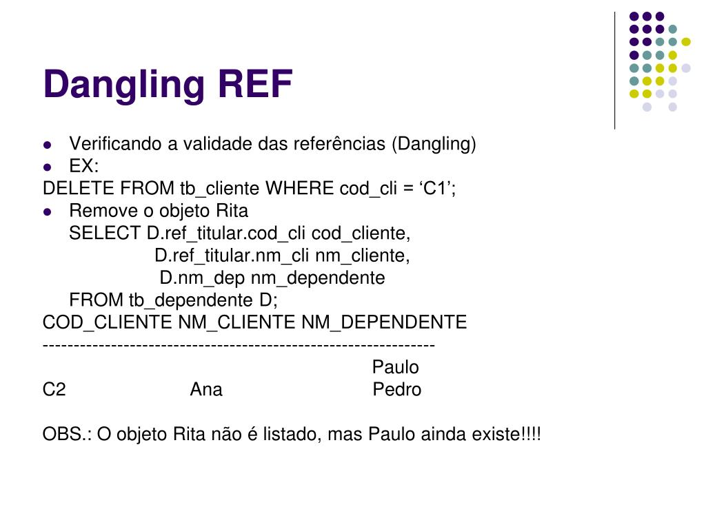 Dangling REF