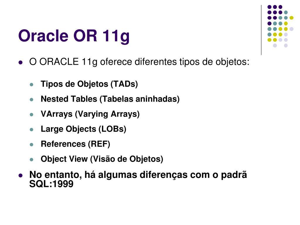 Oracle OR 11g