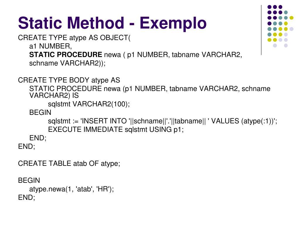 Static Method - Exemplo
