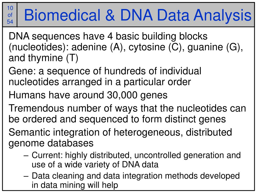 Biomedical & DNA Data Analysis