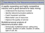data mining for the telecommunications industry