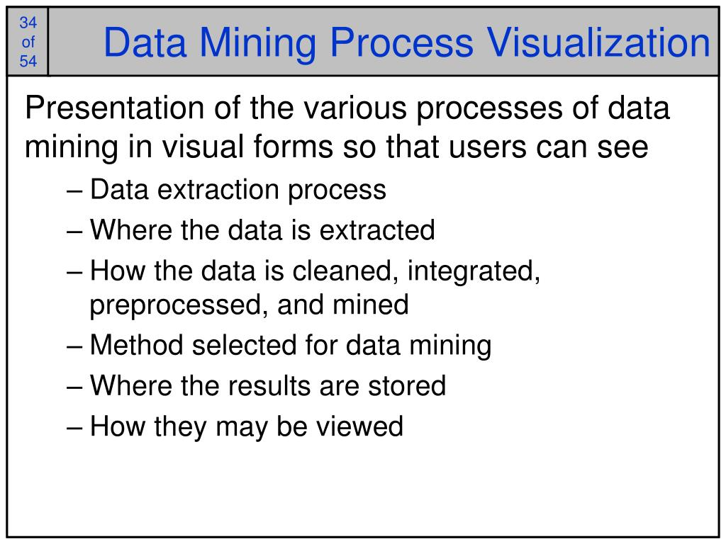 Data Mining Process Visualization