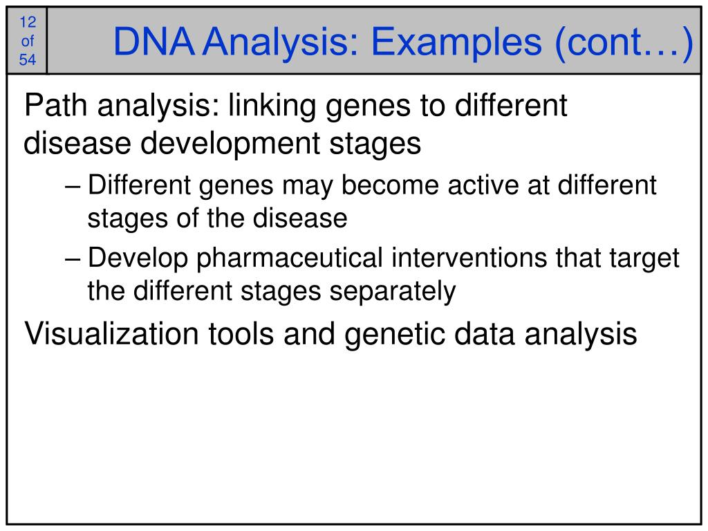 DNA Analysis: Examples (cont…)