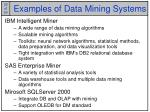 examples of data mining systems