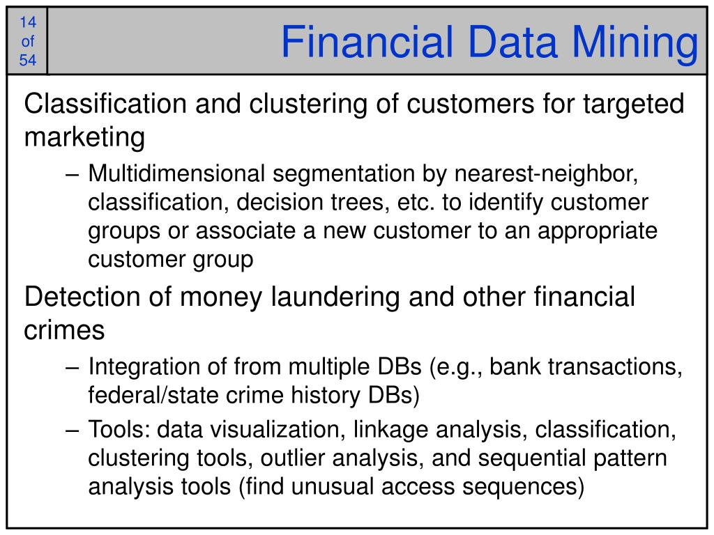 Financial Data Mining
