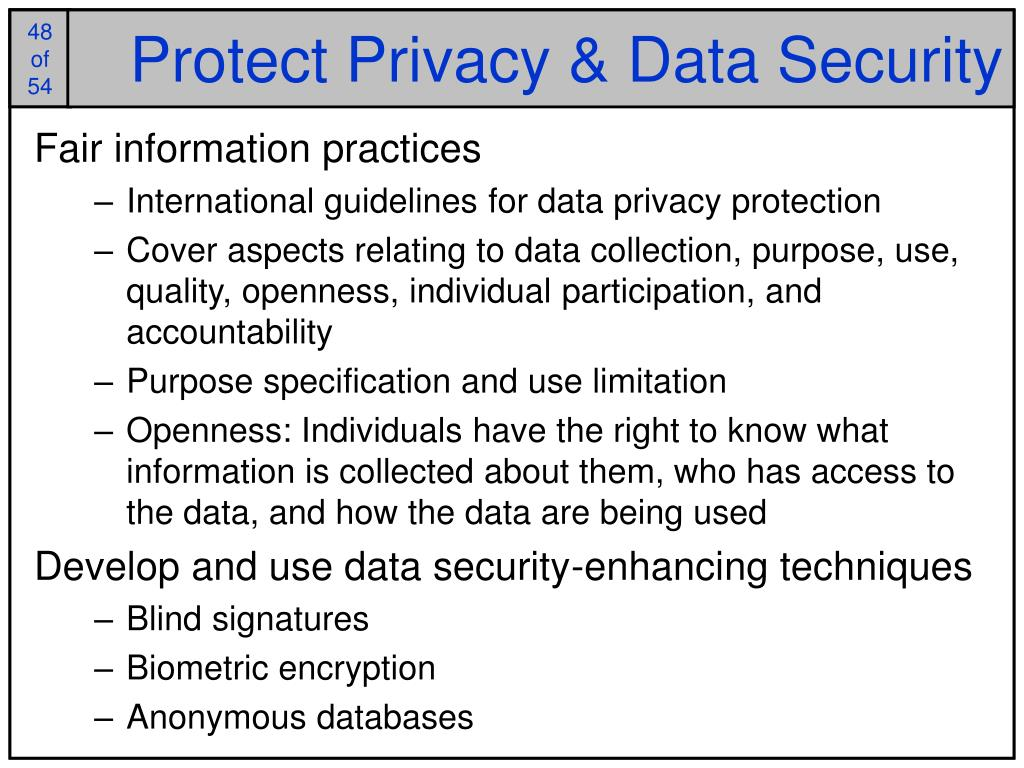 Protect Privacy & Data Security