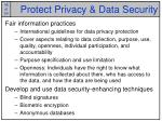 protect privacy data security