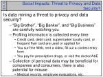 social impacts threat to privacy and data security