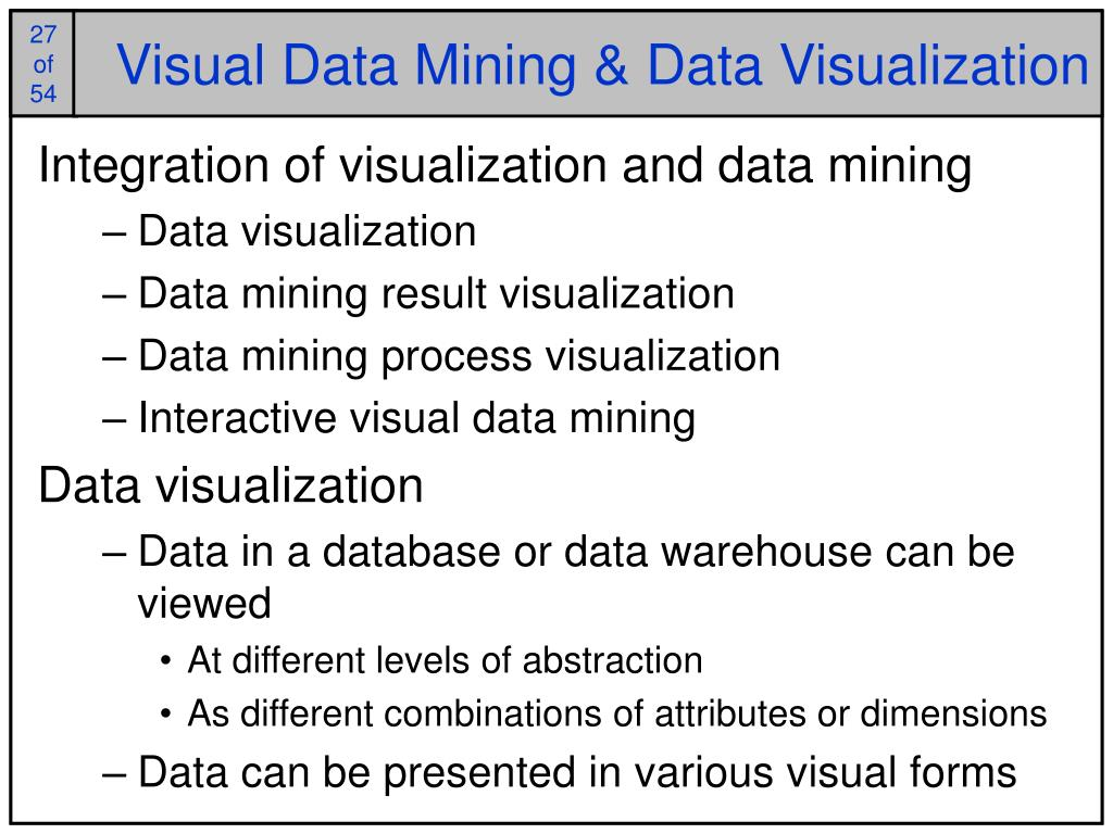Visual Data Mining & Data Visualization