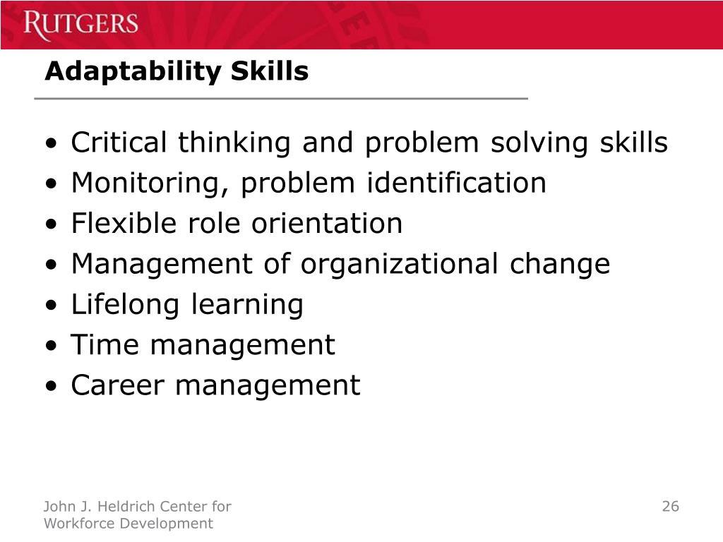 Adaptability Skills