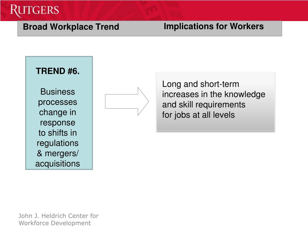 Broad Workplace Trend