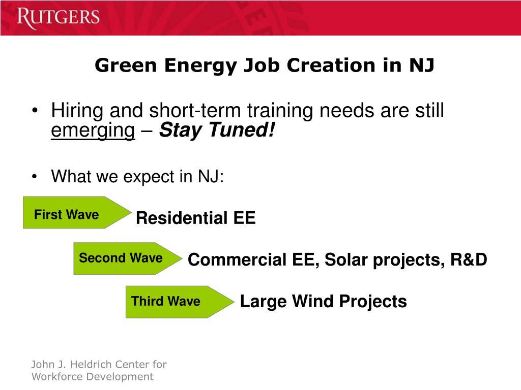 Green Energy Job Creation in NJ