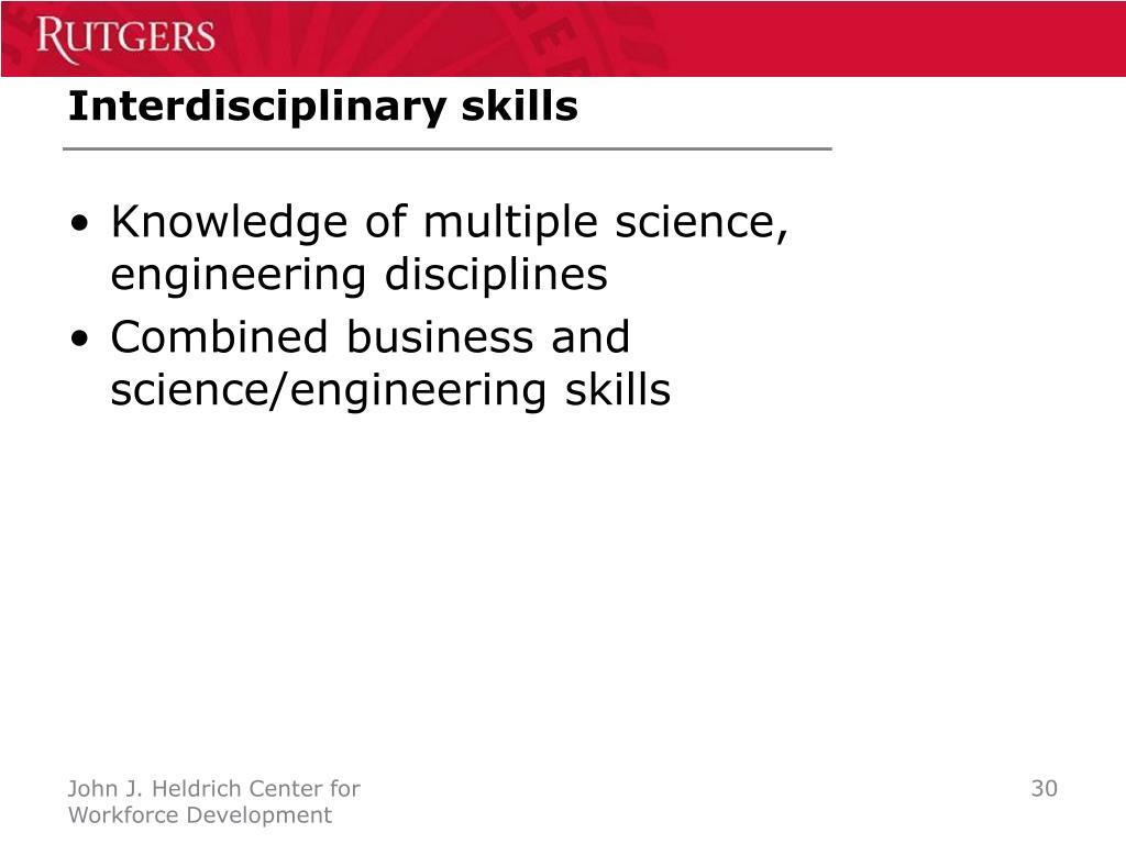 Interdisciplinary skills
