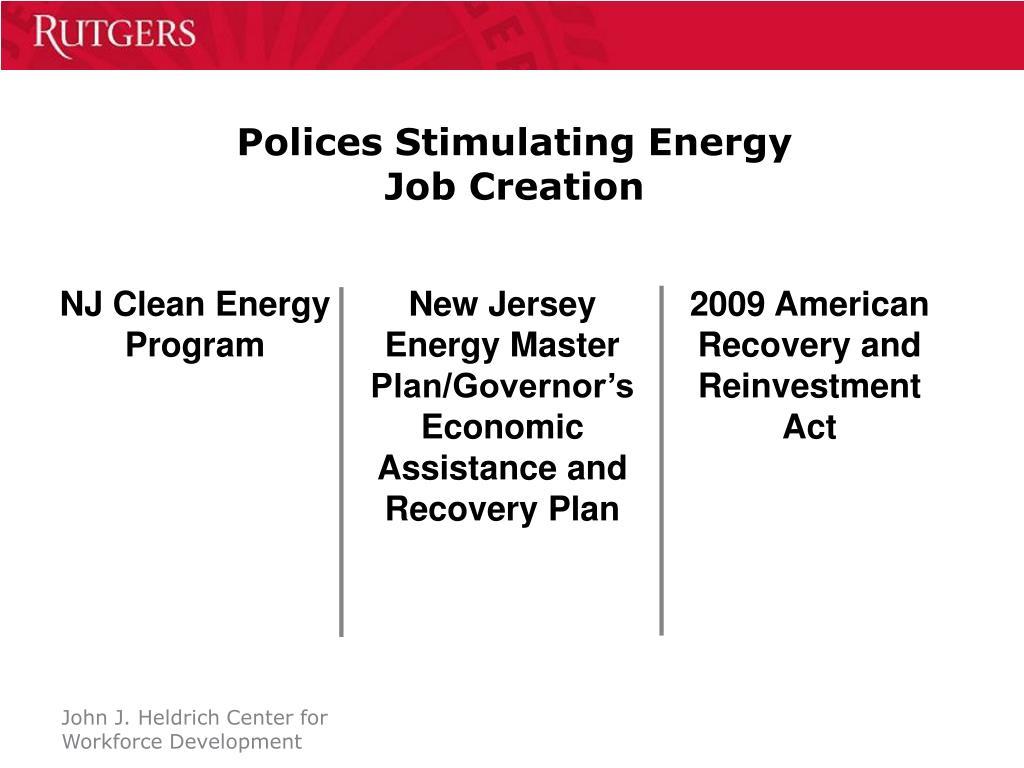 Polices Stimulating Energy