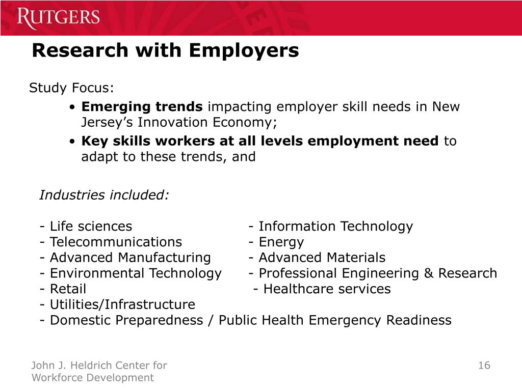 Research with Employers
