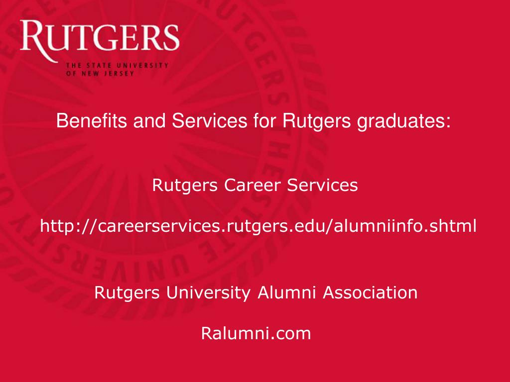 Benefits and Services for Rutgers graduates: