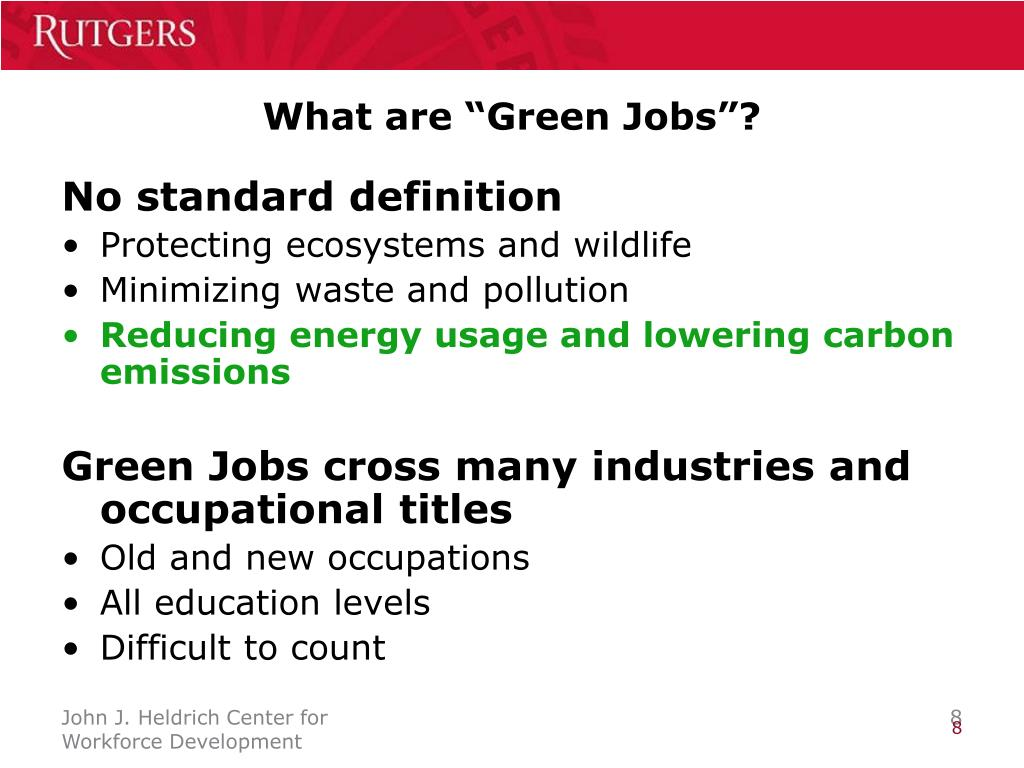 """What are """"Green Jobs""""?"""