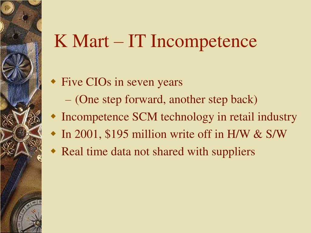 K Mart – IT Incompetence