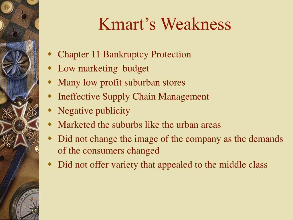 Kmart's Weakness