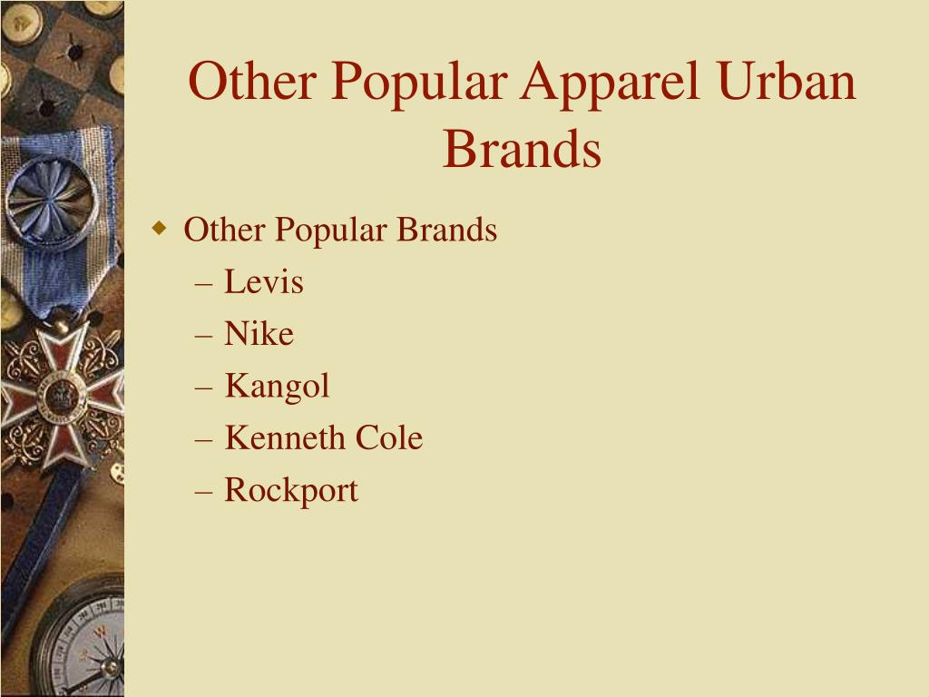 Other Popular Apparel Urban Brands