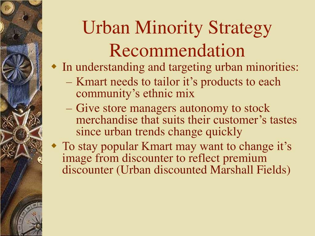 Urban Minority Strategy Recommendation