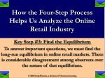 how the four step process helps us analyze the online retail industry8