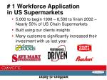 1 workforce application in us supermarkets